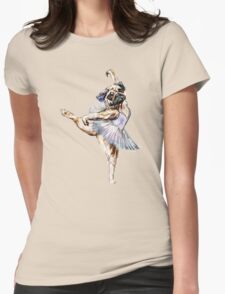 Pug Ballerina Colorful Womens Fitted T-Shirt