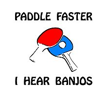 Paddle Faster Ping Pong Photographic Print