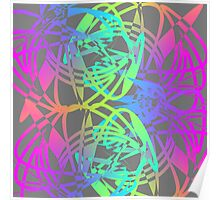 Bright Colorful Glow Sticks Funky Abstract Print                                                       Poster