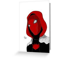 Red Hood Greeting Card