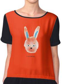 serious bunny Chiffon Top