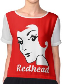 Miss Redhead (text) [iPhone / iPad / iPod case | Tshirt | Print] Chiffon Top