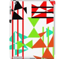 Trendy Bold Bright Colorful Abstract Geometric Design iPad Case/Skin