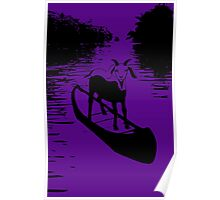 Goat On A Boat Poster