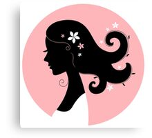 Romance girl shape for Wedding or Valentine Canvas Print