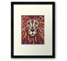 Psychedelic Lion Framed Print