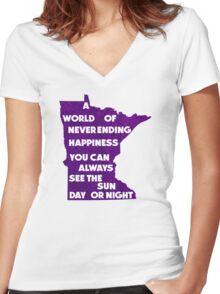 Purple Rain.  Purple Reign. Women's Fitted V-Neck T-Shirt