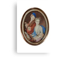 PORTRAIT MINIATURE Late 18th - Early 19th century Canvas Print