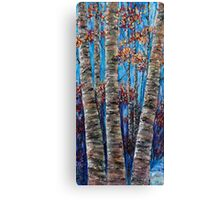 Aspen forest in the Rocky Mountains (Palette Knife) Canvas Print