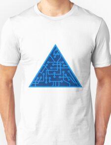 triangular shape microchip technology cool design pattern Unisex T-Shirt