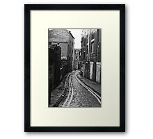 Atmospheric Alleyway Framed Print
