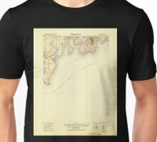 USGS TOPO Map Rhode Island RI Newport 353519 1920 62500 Unisex T-Shirt