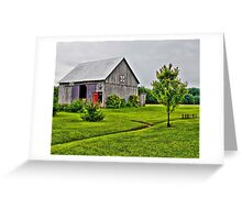 Barn with the Red Door Greeting Card