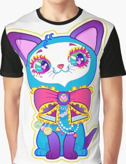 Kawaii and cute Blue Crystal Kitty  Graphic T-Shirt