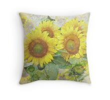 Sunflowers - Flowers - Photograph Throw Pillow