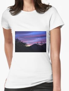 Daybreak through a bathroom window Womens Fitted T-Shirt