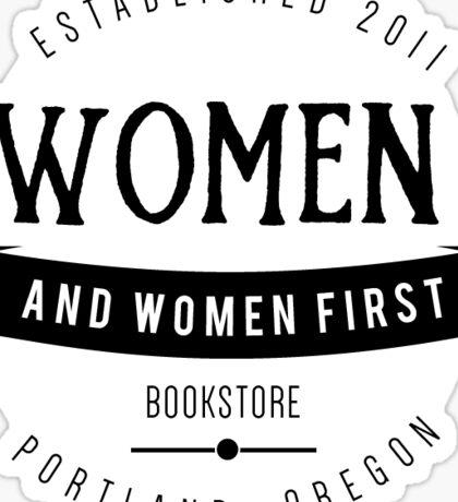 Women and Women First Bookstore Sticker