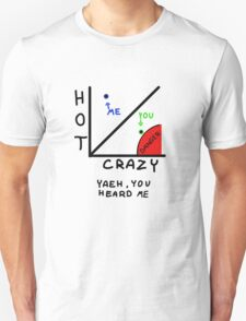 The HOT/CRAZY scale  Unisex T-Shirt