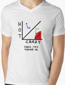 The HOT/CRAZY scale  Mens V-Neck T-Shirt