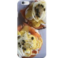 Salmon Benedict  iPhone Case/Skin