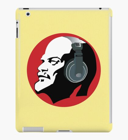 Lenin with Headphones (Yellow and Red) iPad Case/Skin