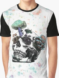 Fungus Skull by Andrea Cain Graphic T-Shirt