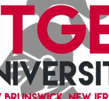 Rutgers university with knight Sticker