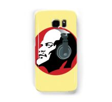 Lenin with Headphones (Yellow and Red) Samsung Galaxy Case/Skin