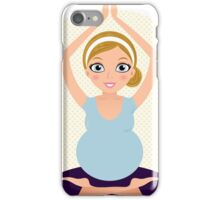 Pregnant woman in Yoga pose iPhone Case/Skin