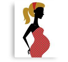 Pregnant woman silhouette Illustration Canvas Print