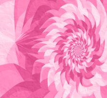 Surreal fractal cold pink flower Sticker