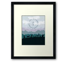 Fellowship Silhouette - Misty Mountains Framed Print