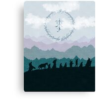 Fellowship Silhouette - Misty Mountains Canvas Print