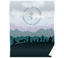 Fellowship Silhouette - Misty Mountains Poster