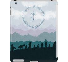Fellowship Silhouette - Misty Mountains iPad Case/Skin
