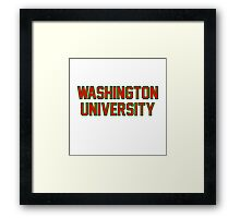 washington university Framed Print