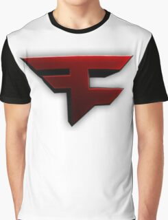 Faze Clan | Red Logo | White Background | High Quality Graphic T-Shirt