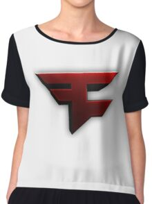 Faze Clan | Red Logo | White Background | High Quality Chiffon Top