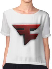 Faze Clan | Red Logo | White Background | High Quality Chiffon Top