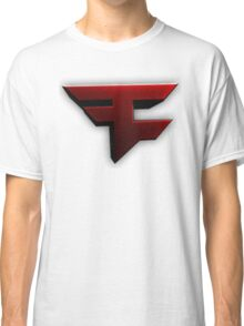 Faze Clan | Red Logo | White Background | High Quality Classic T-Shirt