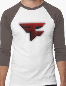 Faze Clan | Red Logo | White Background | High Quality Men's Baseball ¾ T-Shirt