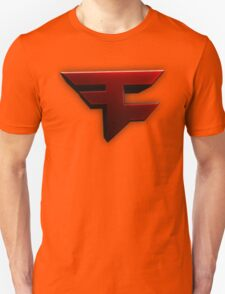 Faze Clan | Red Logo | White Background | High Quality Unisex T-Shirt