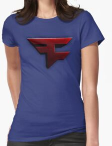 Faze Clan   Red Logo   White Background   High Quality Womens Fitted T-Shirt