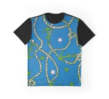 """Patriotic Anchors and Ropes Aweigh - BLUE""© Graphic T-Shirt"