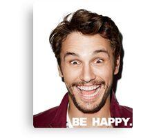 BE HAPPY. Canvas Print