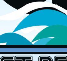 Surfing FIRST PEAK COCOA BEACH FLORIDA Surf Surfer Surfboard Waves Ocean Beach Vacation Sticker