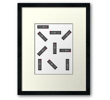 simple remote Framed Print
