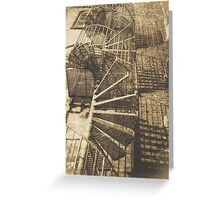 Winding Stairs Greeting Card