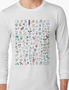 Colorful Pet Rescue Mosaic Long Sleeve T-Shirt