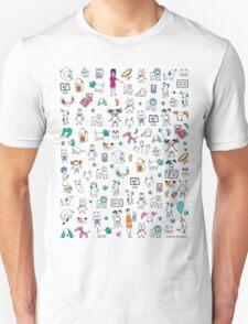 Colorful Pet Rescue Mosaic Unisex T-Shirt